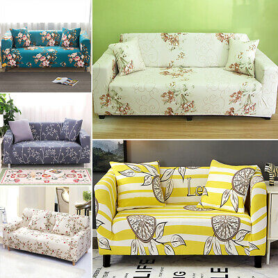4 SEAT HOME Elastic Fabric Sofa Cover Sectional/Corner Couch ...