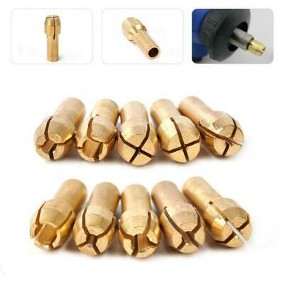10pcs Drill Brass Chuck Collet Drill Bit 0.5-3.2mm Set For Rotary Tool Pin Vise