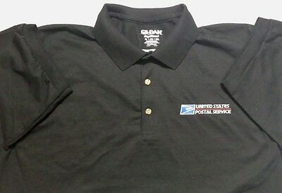 Usps Postal Black Polo Shirt With Embroidered Postal Logo On Crest Small - 5X