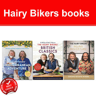 Hairy Bikers Books Set Mediterranean Adventure, British Classics,Asian Adventure