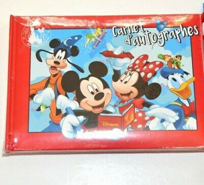 Disneyland Paris Characters Autograph Book and Pen N:3135