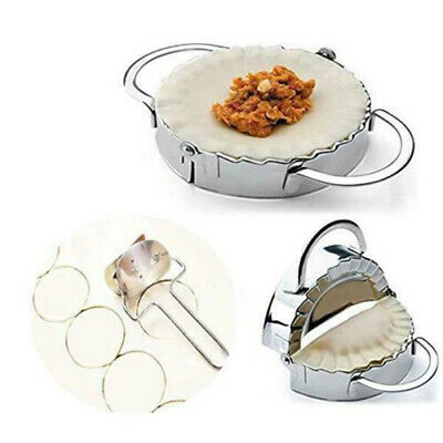 Stainless Steel Dumpling Maker Mould Kitchen Pastry Tool + Flour Ring Cutter Set