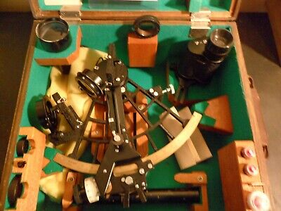 Vintage SIMEX Marine Sextant w/Case and Certificate of Examination Japan 3966