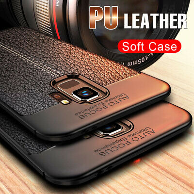 Luxury Shockproof PU Leather Soft back Case Cover For Samsung Galaxy S8 S9 Plus
