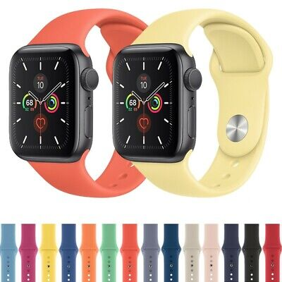 38/42/40/44/mm Silicone Sport iWatch Band Strap For Apple Watch Series 4 3 2 1
