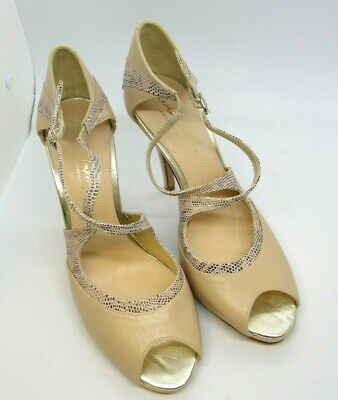 New Rachel Simpson Light Brown Bridal Shoes size with 4 inch heel