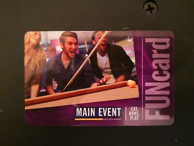 MAIN EVENT GIFT CARD about $20 (85 CREDITS)