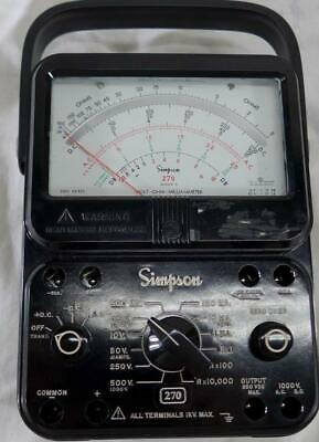 Simpson 270 Series 5 Analog Multimeter