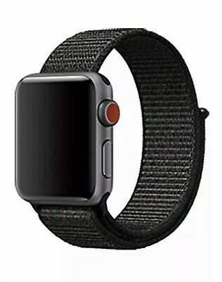 Correa deportiva nylon 38mm 40mm Apple Watch Series 4/3/2/1 Negro+rojo Ajustable