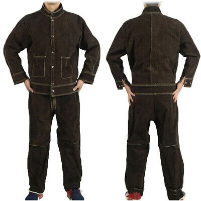 High Quality Cow Sweet Leather Welding Jacket & Trouser / Welding Suit