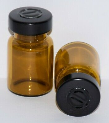 USP 5 mL Amber Sterile Vial With Any Color Center Tear Seal Qty. 3