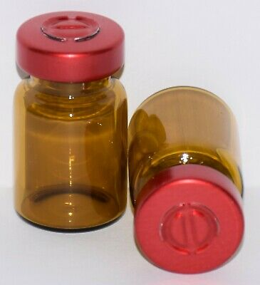 USP 5 mL Amber Sterile Vial With Red Center Tear Seal ANY QTY