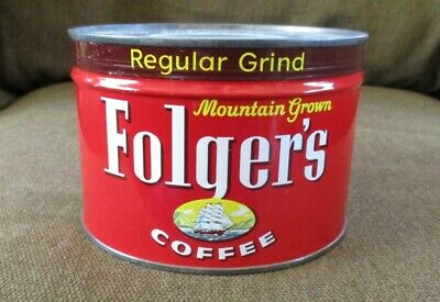 Vintage Can of Folger's Coffee Unopened Good Condition 1959