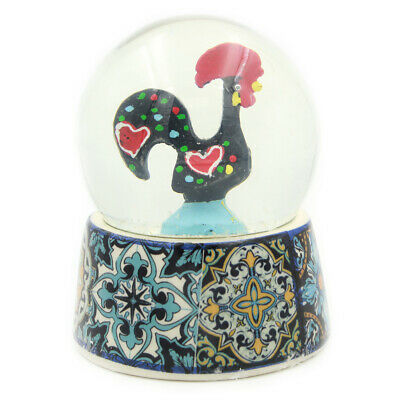 Traditional Portuguese Good Luck Barcelos Rooster Snow Globe Souvenir GS3250