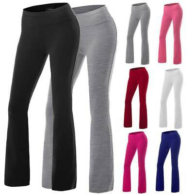 Ladies Women Yoga Pants Bootcut Sports Gym Leggings Flare Trousers Wide Leg F374