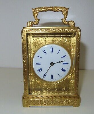 Superb early one price carriage clock LEROY, Paris c1840