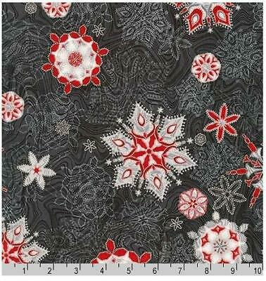 Metallic Silver Accented Holly /& Berries on Green Quilting Fabric by Yard  #3018