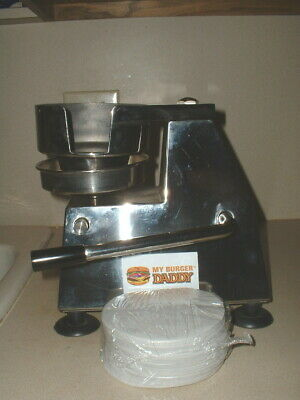 "My Burger Daddy HMG130 Commercial 5"" Hamburger Patty Press w/Paper"