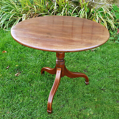 Georgian Mahogany Flip-Top Tripod Supper Side Lamp Table C1810 (George III)