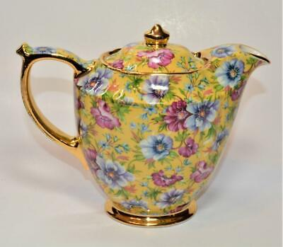 JAMES SADLER England SOPHIE CHINTZ Pattern Venice Hot Jar Individual Teapot 16oz