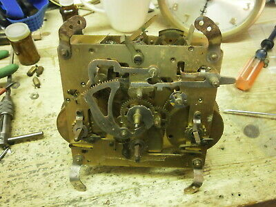 Clock MOVEMENT Westminster Chime parts spares mantle bracket 471A