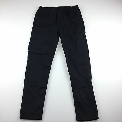 Girls size 4-6, Uniqlo, black jeggings / jean leggings, elasticated, GUC