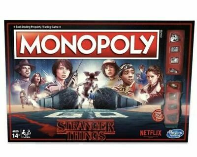 STRANGER THINGS EDITION MONOPOLY board game NEW netflix 1980s