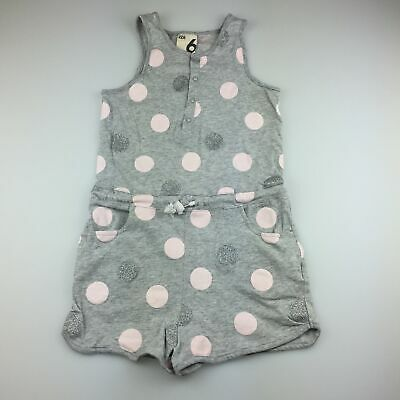 Girls size 6, Cotton On, cute soft cotton spotted playsuit, GUC