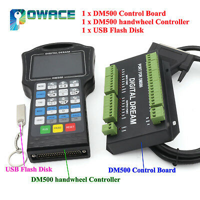 3 Axis Remote Controller DM500 for CNC Router DSP Controller replace DSP A11E