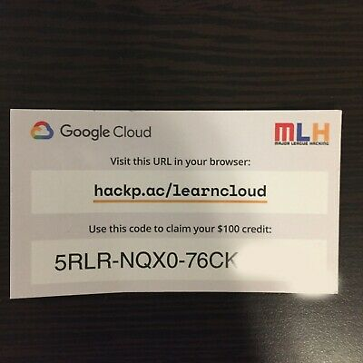 Google Cloud Platform $100 Credit - 1 Per Google Account