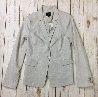 The Limited Collection Womens Light Gray Blazer Jacket Size 2 NWT Career