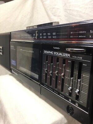 Panasonic FM49 AM FM Cassette Player Radio 80s Boombox GHETTO BLASTER Ex Cond!