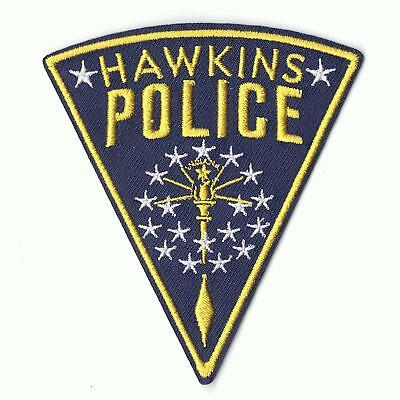 Stranger Things Embroidered Iron On Patch - Hawkins Police Netflix  - 125-J