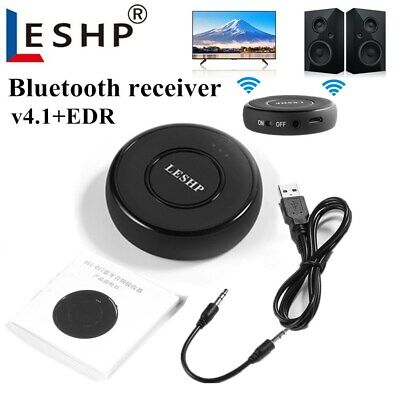 Bluetooth V4.1 Transmitter /& Receiver Wireless Audio 3.5mm Aux Adapter Hub T5I8