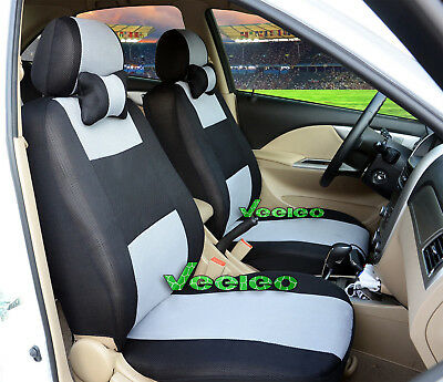(Front +Back) 7 Colors Car Seat Covers for KIA 5 seats +5 PCS Headrest Cover