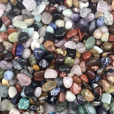 "500 Grams of Crystals, Gems & Tumble Stones Mix ""Small Tumbles"" (WORLD MIX)"