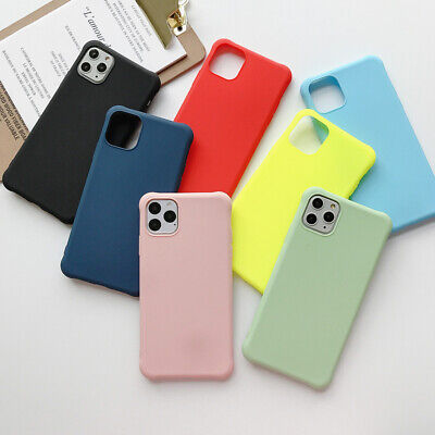 Color Matte Shockproof Soft TPU Case Cover For iPhone 11 Pro Max XS XR 8 7 Plus