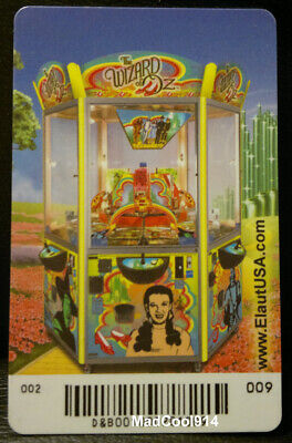 Arcade Machine Elaut Card The Wizard of Oz Coin Pusher Game Dave and Busters #9