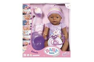 Zapf Creation Baby Born Interactive Ethnic Doll BN Boxed Dummy+potty+bottle Etc
