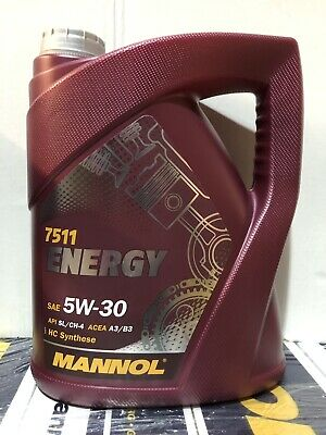 5L Mannol ENERGY 5Litre 5w30 ZETEC  Synthetic Engine Oil SL/CF ACEA A3/B3