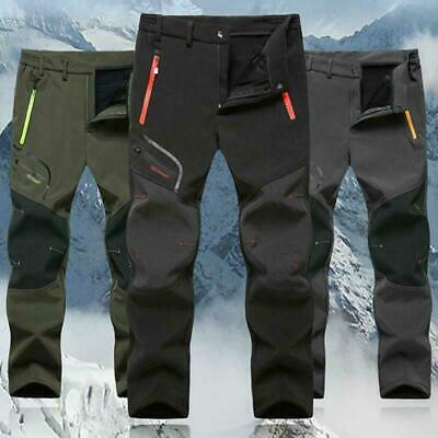 Mens SOFT Shell Outdoor Trousers Thick  Climbing Hiking Spots Waterproof Pants