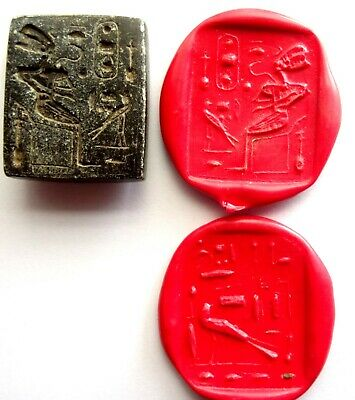 Large Seal Stamp Egyptian Stone - Egypt Ancient Stone Intaglio Seal Matrix