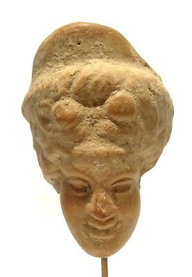 Kopf- Greco Römische - 200 Avt Jc - 200 BC - Ancient Greek Roman Terracotta Head