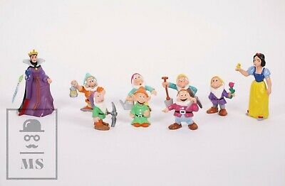 9 Disney Snow White and the Seven Dwarfs PVC Figures Job Lot, Bullyland, Germany