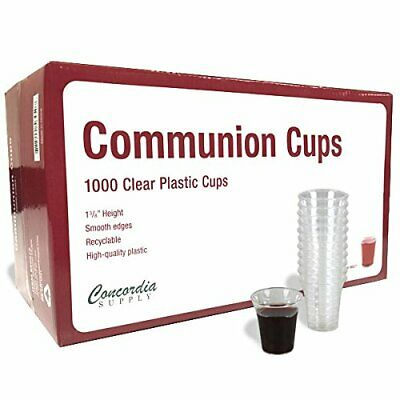 Communion Cups - Premium Disposable Box 1000 Fits Standard Holy Trays 1-3/8-inch