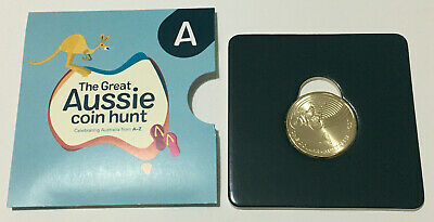 UNC card GREAT AUSSIE COIN HUNT A for Australia Post 2019 $1 coin FREE POSTAGE