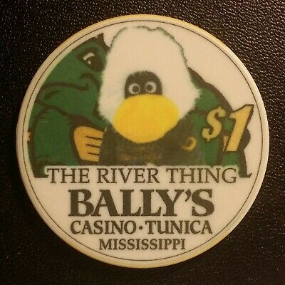 Bally's Casino Tunica, Mississippi  $1 Gambling Chip The River Thing
