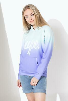 Hype Girls Kids Junior Fade Pullover Hoodie Mint / Purple