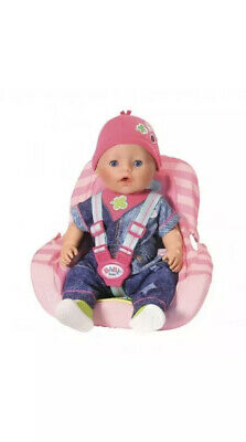 Zapf Creation Baby Born On The Go Doll Car Seat Toy Playset