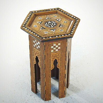 Moorish Table - Liberty Style Mother of Pearl Inlaid Marquetry Islamic